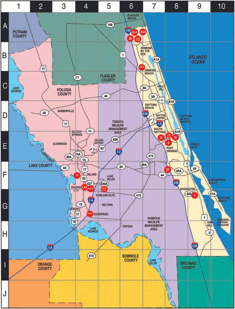 Street Map Of Daytona Beach Florida