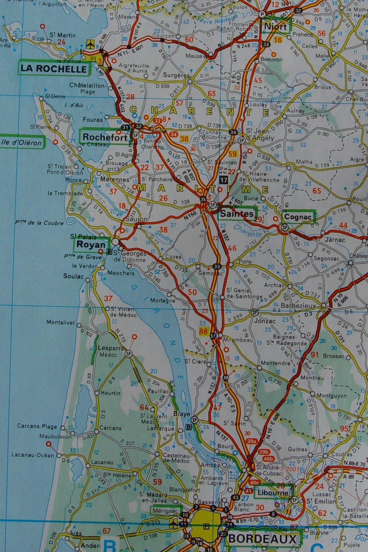 Western France Map France Mappery