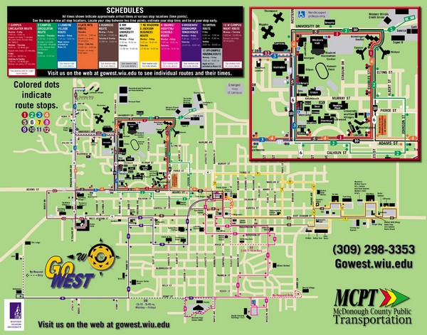Western Illinois University Tranist Map