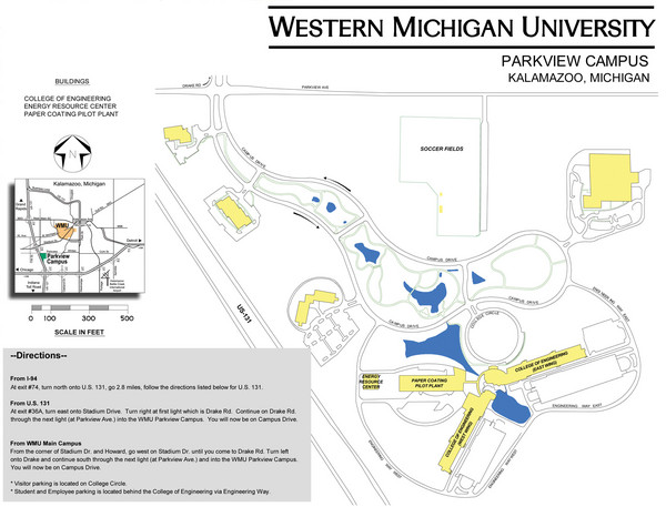 Western Michigan University Campus Map Western Michigan University