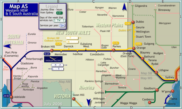 Western New South Wales Map