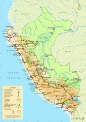 Western South America Tourist Map