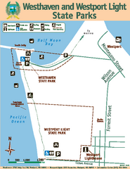 Westhaven/Westport Light State Parks Map
