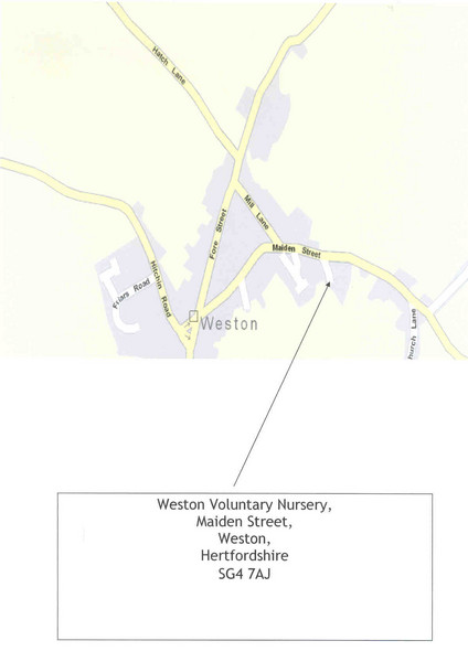 Weston, Hertfordshire Map