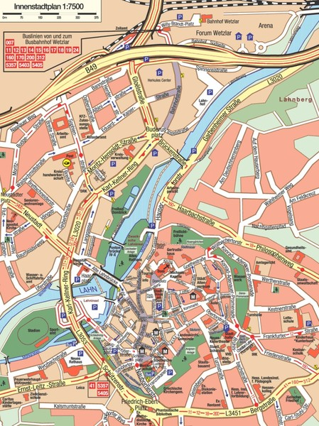 Wetzlar Center Map