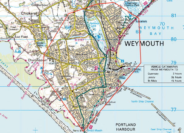 Weymouth, England Region Map
