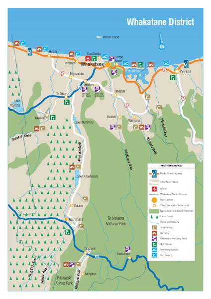 Whakatane District Map