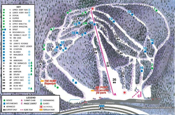 Whaleback Ski Trail Map