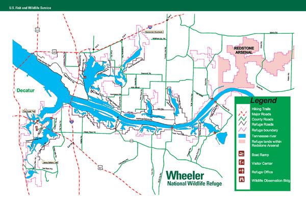 Wheeler national wildlife refuge map new hope alabama for Wheeler lake fishing report