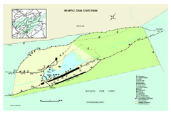 Whipple Dam State Park map