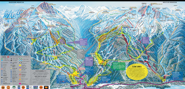 Whistler Blackcomb Ski Resort Map - Whistler Canada • mappery on map airports in canada, map national parks in canada, map churches in canada, map mountains in canada, map golf courses in canada, map cities in canada, map british columbia,