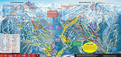 Whistler Blackcomb Ski Trail Map 2007-2008