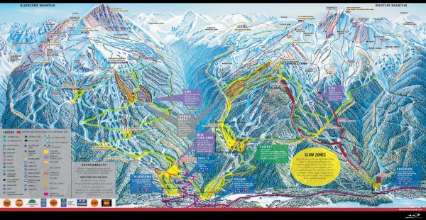 Whistler Blackcomb Ski Trail map 2005-06