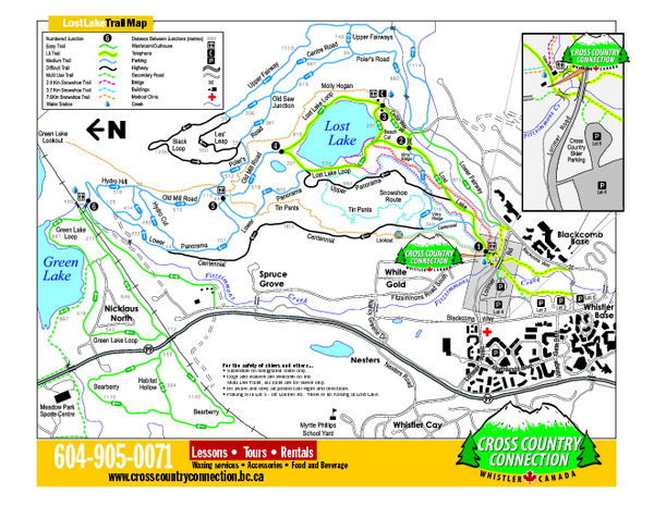 Whistler Cross Country Connection 2006–07 Whistler XC/Snowshoe Map