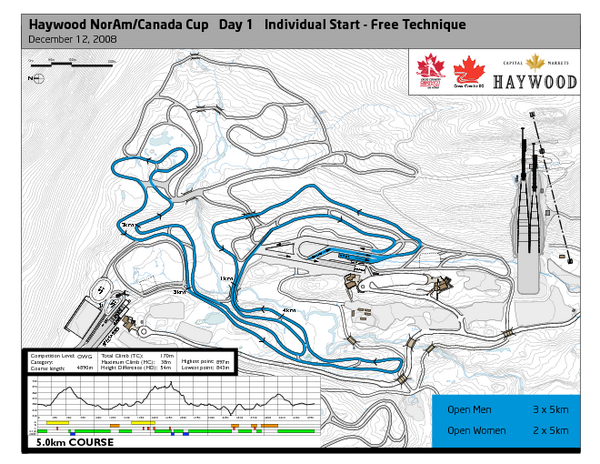 Whistler Olympic Park (Callaghan Nordic Centre) NorAm—Free Tech.—Open Ski Trail Map