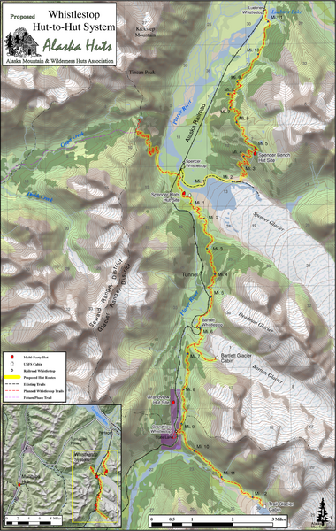 Whistlestop Proposed Hut System Map