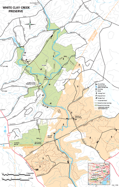 White Clay Creek Preserve map