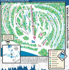 White Hills Ski Trail Map