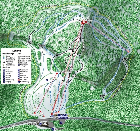 White Pass Ski Area Ski Trail Map