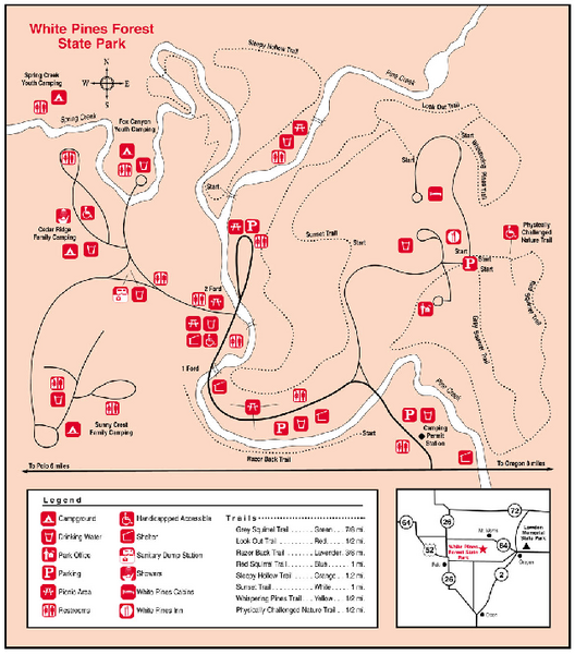 White Pines Forest, Illinois Site Map