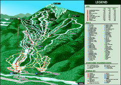Whiteface Mountain—Lake Placid Ski Trail Map