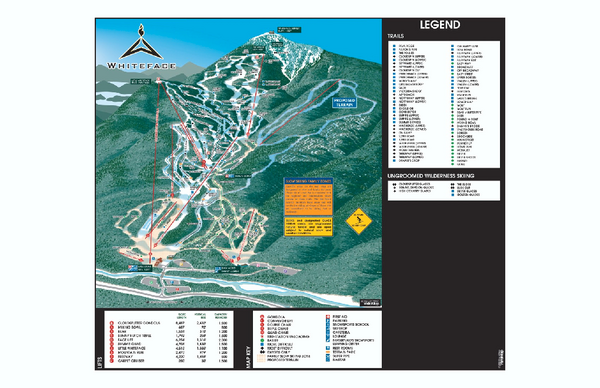 Whiteface Ski Trail Map