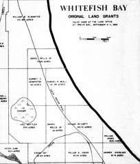 Whitefish Bay Original Land Grants 1835 Map