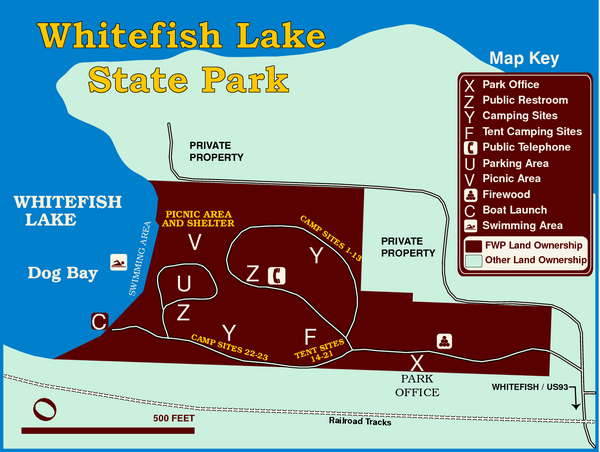 Whitefish Lake State Park Map