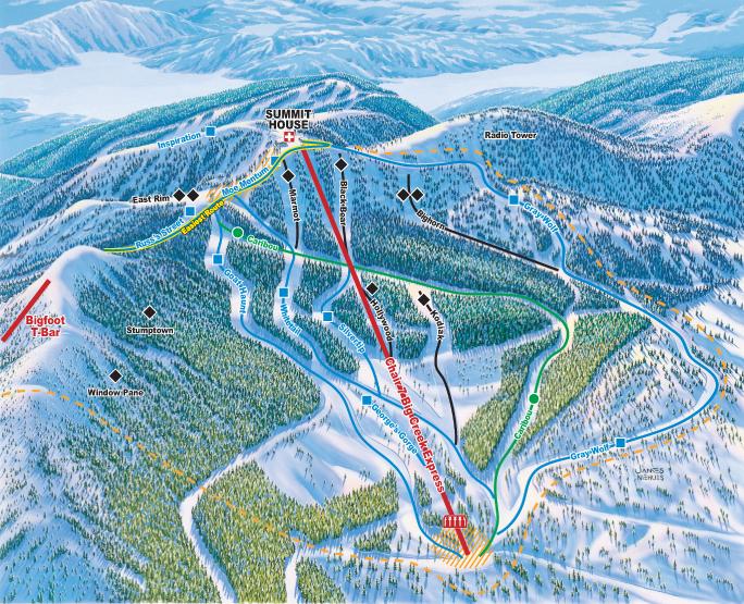 Whitefish Mountain Resort Northside Ski Trail Map