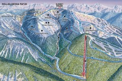 Whitefish Mountain Ski Trail Map - Hellroaring Basin