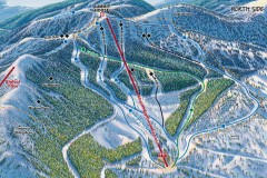 Whitefish Mountain Ski Trail Map - North Side