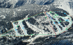 Whitewater Ski Resort Silver King Ski Trail Map
