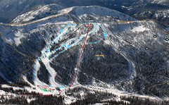Whitewater Ski Resort Summit Ski Trail Map