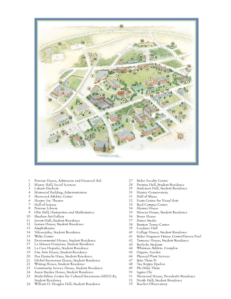 Whitman College Campus Map 280 Boyer Ave Walla Walla Wa 99362