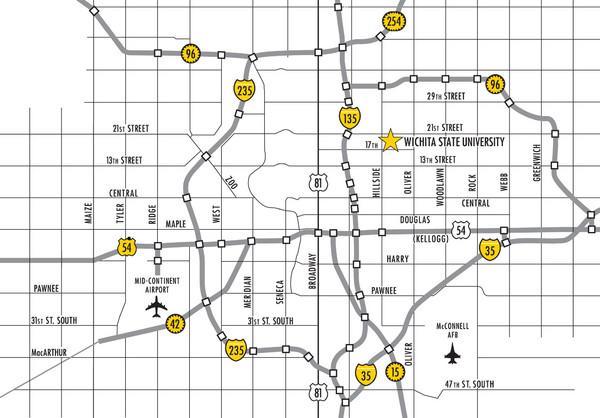 Fullsize Wichita Kansas City Map