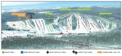 Wild Mountain Ski Area Ski Trail Map