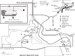Wildcat Den State Park Map