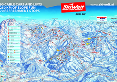 Wilder Kaiser Ski Trail Map
