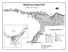 Wilderness State Park, Michigan Site Map