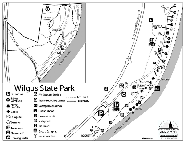Wilgus State Park Campground Map