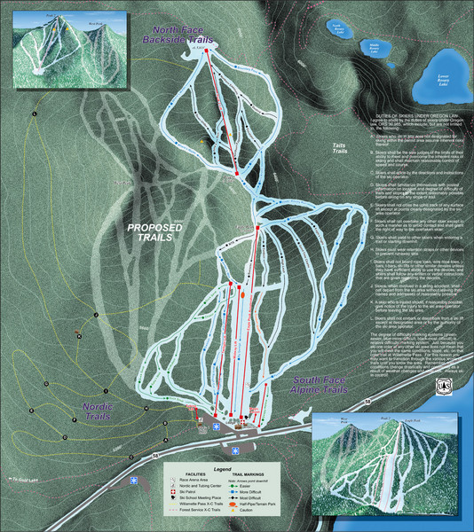Willamette Pass Ski Trail Map