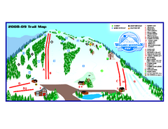 Willard Mountain Ski Area Ski Trail Map