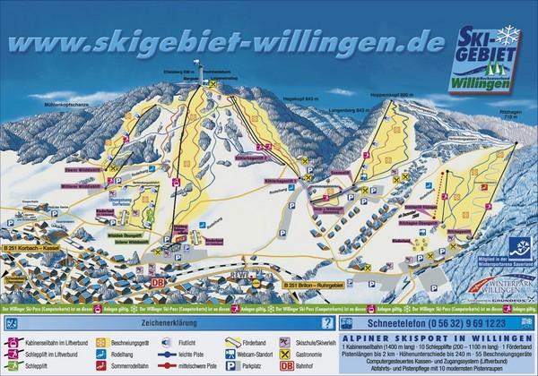 Willingen Ski Trail Map - Willingen Germany • mappery