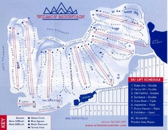 Wilmot Mountain Ski Trail Map