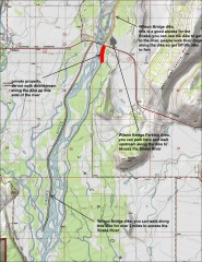 Wilson Bridge Fishing map