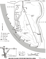 Wilson Island State Recreation Area Map