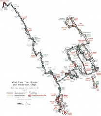 Wind Cave Tour Routes Detail Map