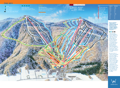 Windham Mountain Ski Trail Map