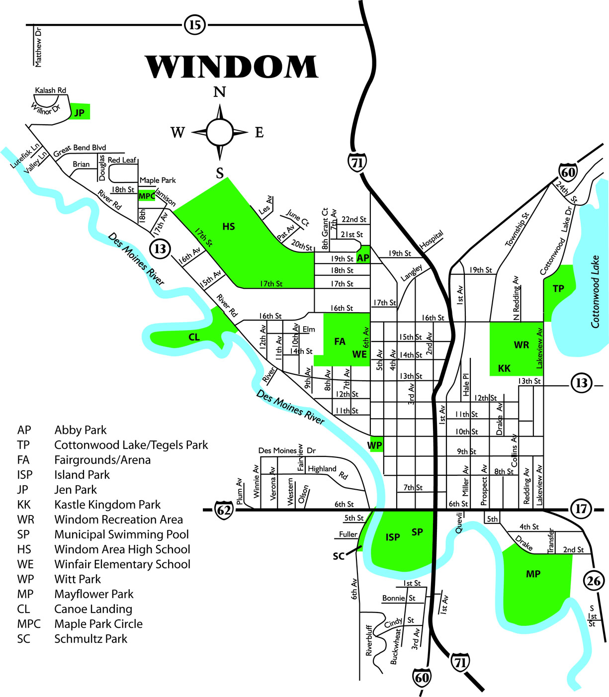 Windom City Parks Map - Windomwindom city