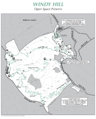Windy Hill Open Space Preserve Map